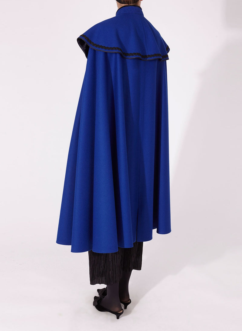 PALOME CAPE Blue with Soutache