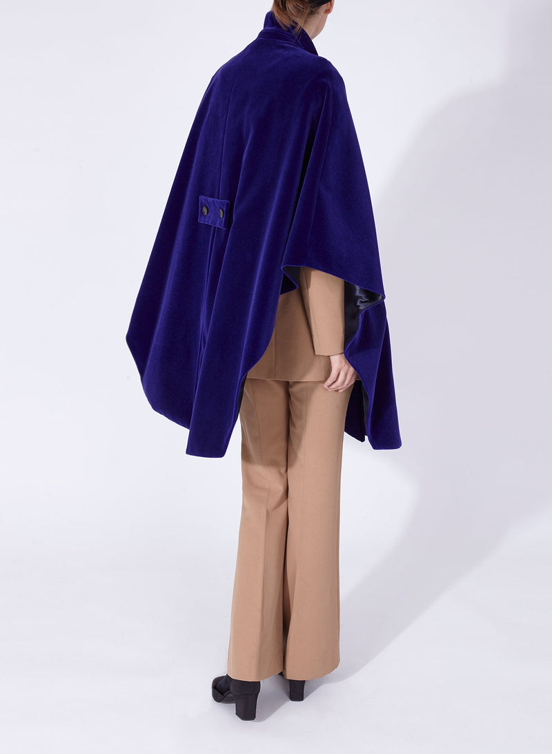 GRETA CAPE Purple Velvet