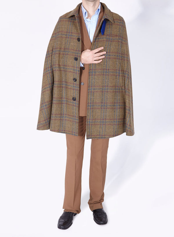 MR.DARCY CAPE WALNUT MAROON TARTAN