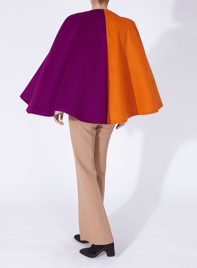 CLAUDIA CAPE PURPLE AND ORANGE