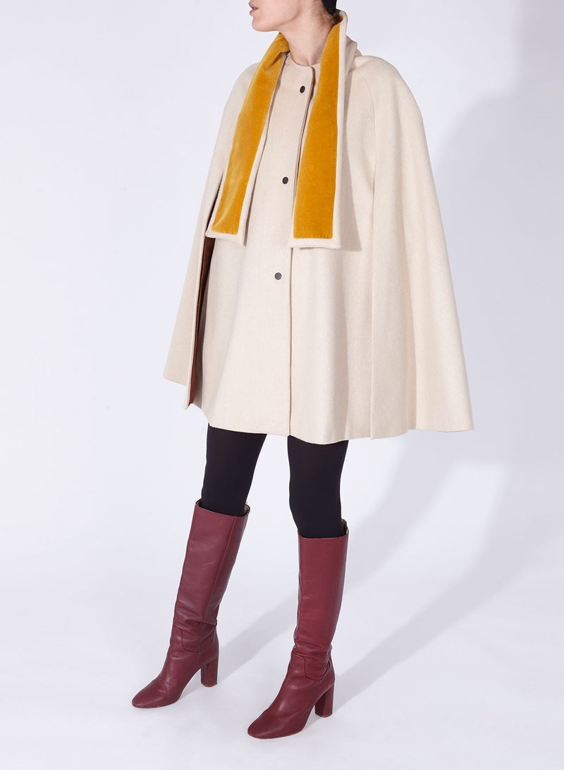 BIANCA CAPE OFF-WHITE