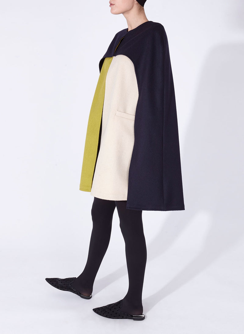 JEAN CAPE NAVY, PISTACHIO AND OFF-WHITE