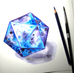 D20 Watercolor Painting