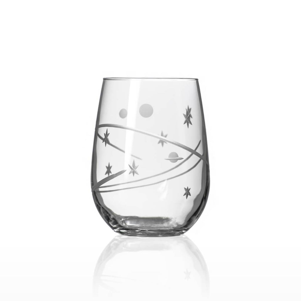 Space Stemless Wine Glasses - Set of 2