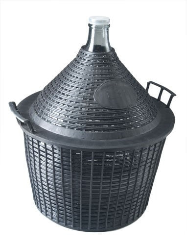 Demijohn 34L in Basket