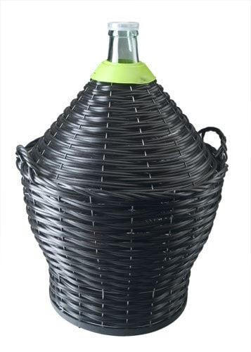 Demijohn 54L in Basket with Tap (shipping late July)