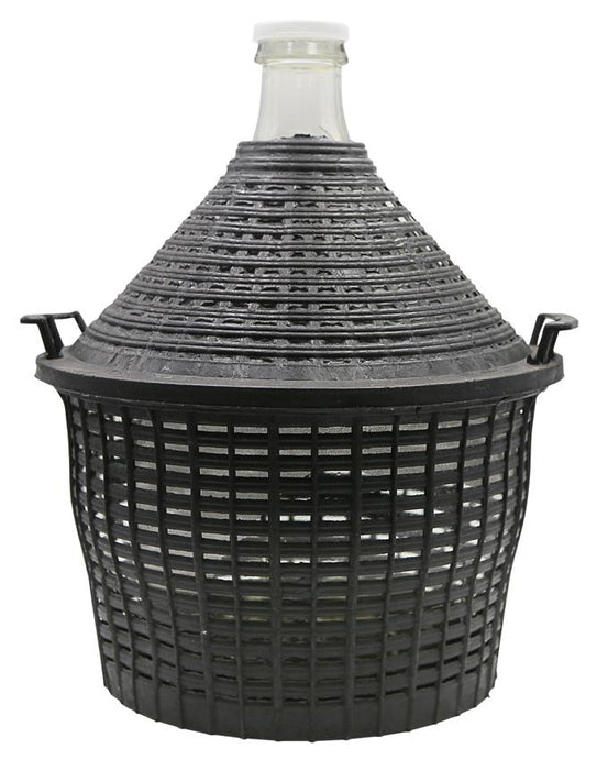 Demijohn 10L in Basket (shipping late February)