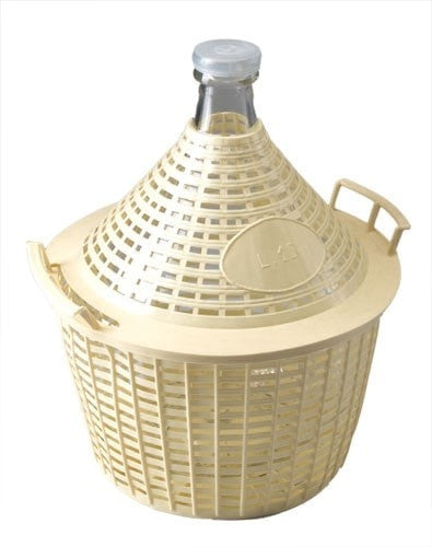 Demijohn 15L in Basket