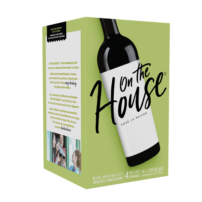 On The House Merlot, Wine Making Kit Makes 30 Bottles (available for pre-order, shipping date TBC)