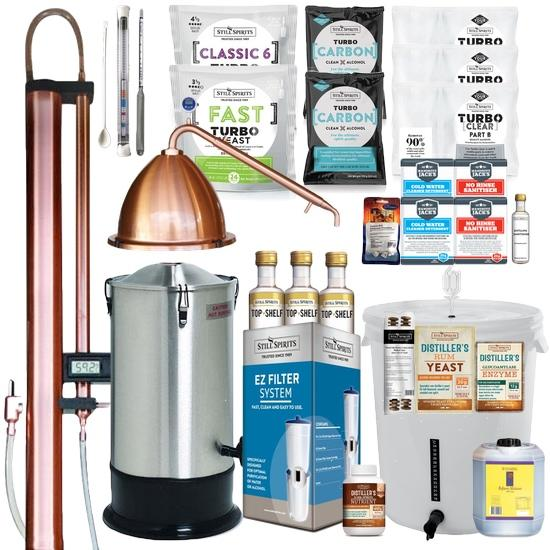 CRAFT SUPER DUPER Pack: Next Generation Still Spirits Turbo 500 (T500) Copper Condenser & Alembic Pot Condenser (shipping January)