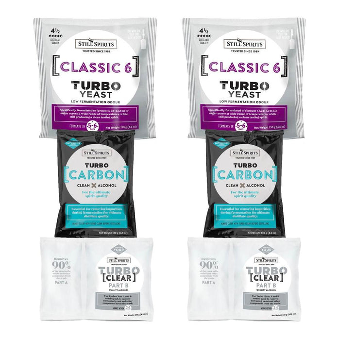 Still Spirits Classic 6 Yeast, Carbon & Clear Double Pack