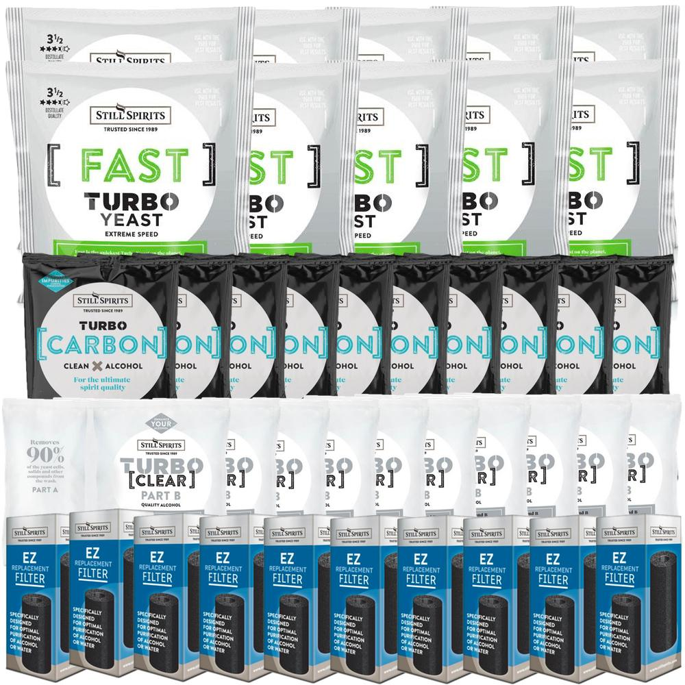 Still Spirits Fast Yeast, Carbon, Clear & EZ Filter 10 Pack