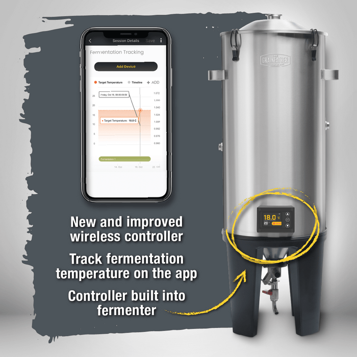 NEW: Grainfather Conical Fermenter PRO with Wireless Controller, Glycol Chiller & Conical Coat