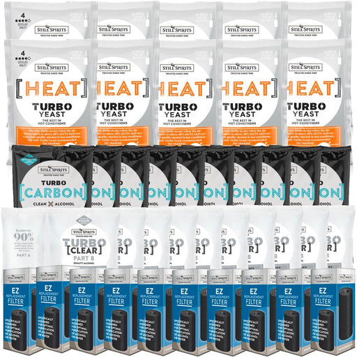 Still Spirits Heat Yeast, Carbon, Clear & EZ Filter 10 Pack