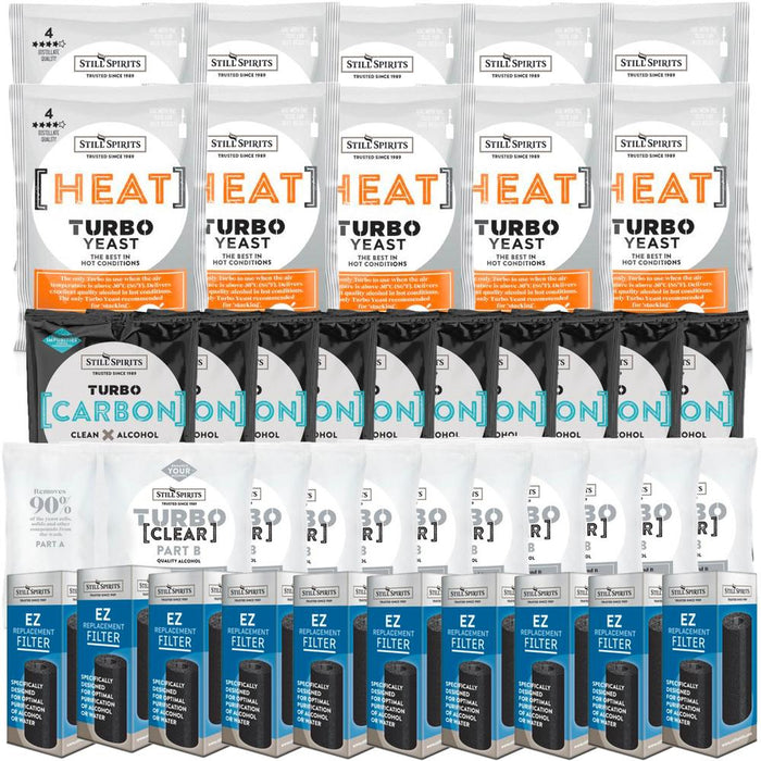 Still Spirits Heat Yeast, Carbon, Clear & EZ Filter 10 Pack (shipping mid June)