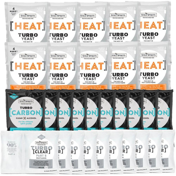 Still Spirits Heat Yeast, Carbon & Clear 10 Pack