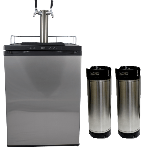 Kegmaster Series 4 Kegerator 2 Taps with 2 New Kegs