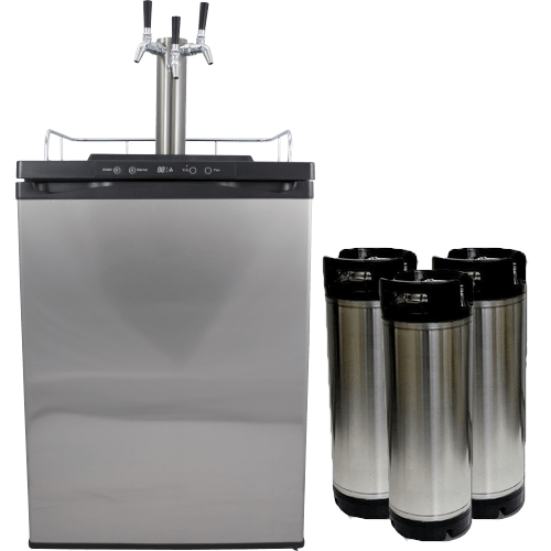 Kegmaster Series 4 Kegerator 3 Taps with 3 New Kegs