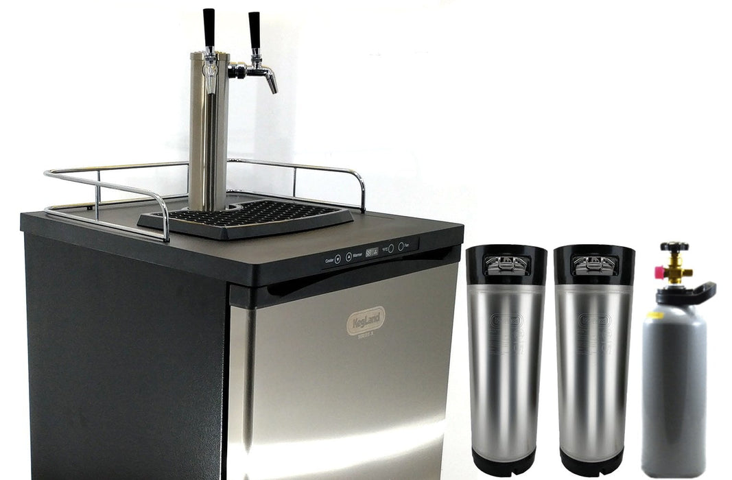 NEW: Kegmaster Series X Kegerator Double Tap PREMIUM BUNDLE 2x Taps with 2 New Kegs, Gas & Disconnects