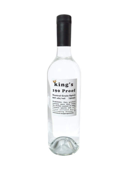 King's 190 Proof (95% alc/vol) Neutral Grain Spirit 750mL