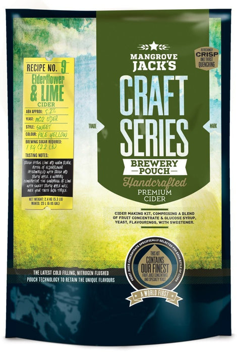 Mangrove Jack's Craft Series Elderflower & Lime Cider 23L