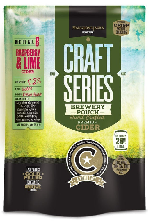 Mangrove Jack's Craft Series Raspberry and Lime Cider 23L