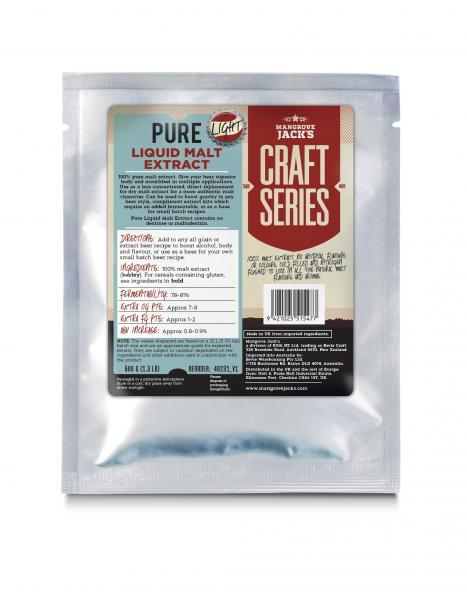 Mangrove Jack's Pure Liquid Malt Extract - Light (600g)