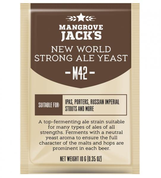 Mangrove Jack's Craft Series Yeast M42 - New World Strong Ale (10g or 100g)