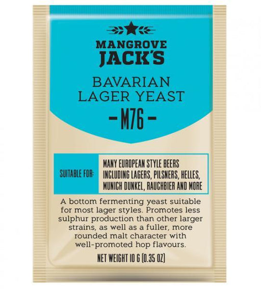 Mangrove Jack's Craft Series Yeast M76 Bavarian Lager (10g) (shipping November)