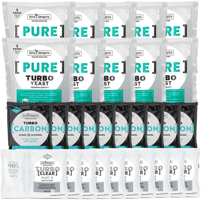 Still Spirits Pure Yeast, Carbon & Clear 10 Pack (shipping late July)