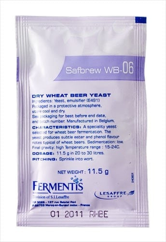 Safbrew WB-06 Yeast (11.5g) (shipping late November)