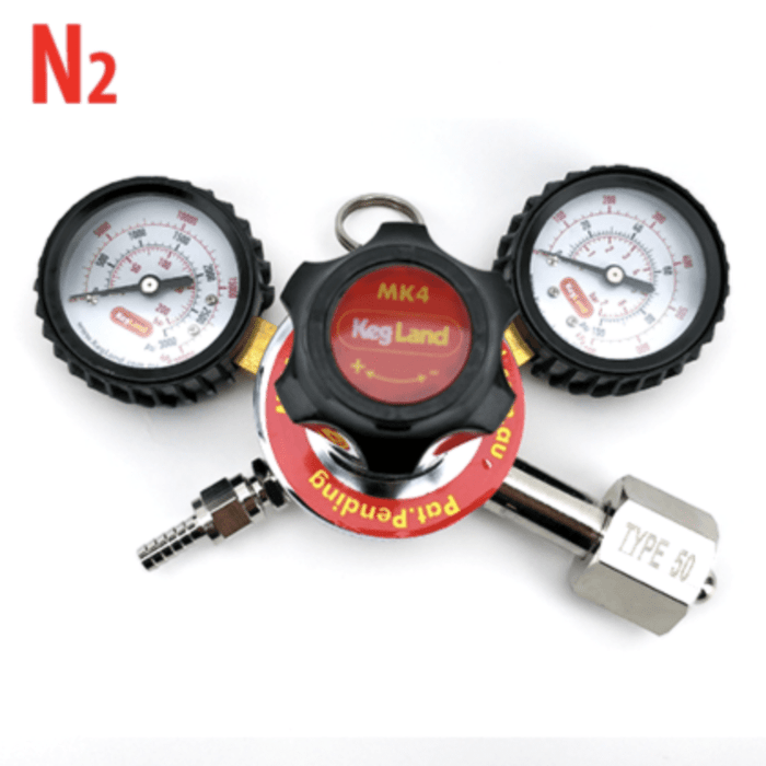 Nitrogen (N2) Gas Regulator MK4 Dual Gauge Multi Gas - Type 50