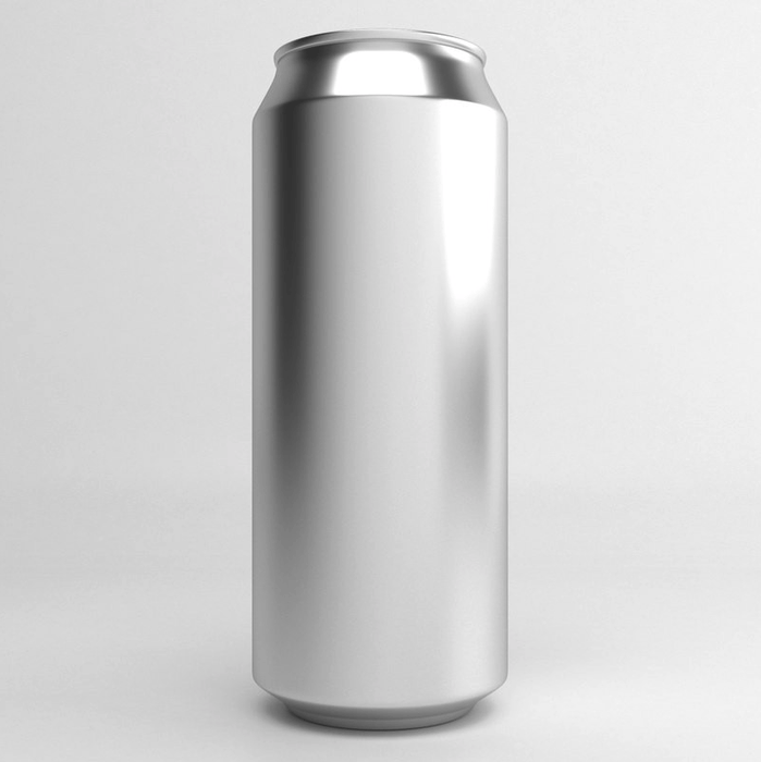 Aluminium Disposable Beer Cans (Empty) Silver with Lids - 207 Units x 500mL