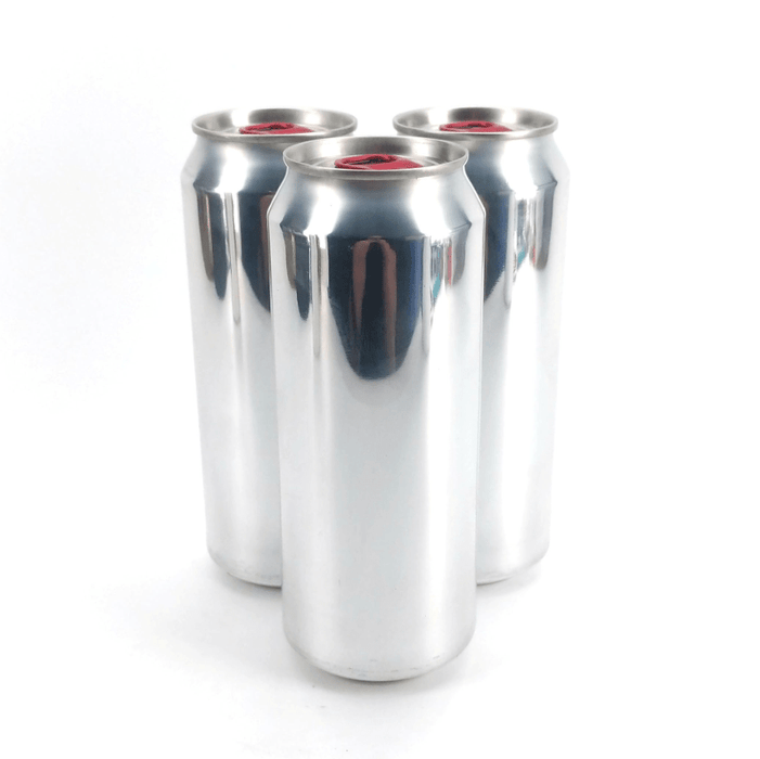 Full Aperture Aluminium Disposable Beer Cans (Empty) Silver with Lids - 207 Units x 500mL