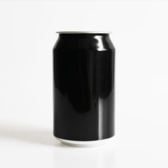 Aluminium Disposable Beer Cans (Empty) - Black Skin With Lids (300 Units X 330mL)