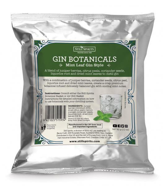 Still Spirits Gin Botanical Kit - Mint Leaf Gin Botanicals (shipping late May)