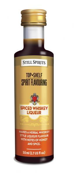 Top Shelf Spiced Whiskey Liqueur (shipping TBA)