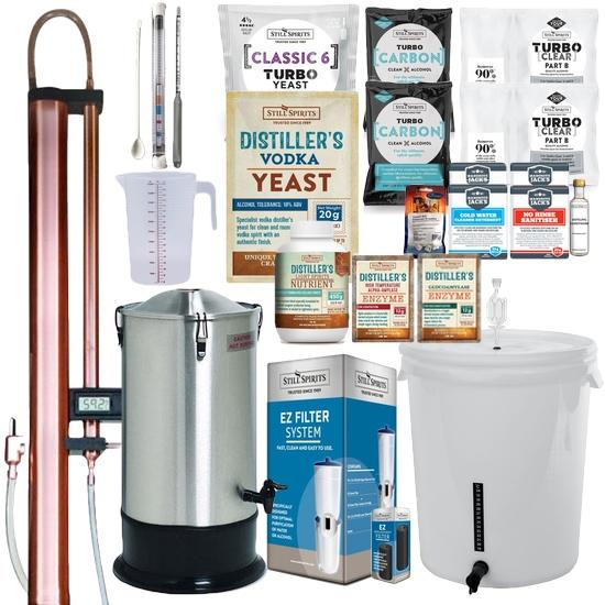 VODKA Distillery Kit: Still Spirits Turbo 500 (T500) Copper Condenser & Vodka Pack (shipping late April)