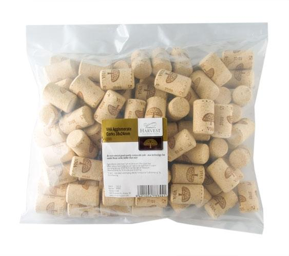 Vintners Harvest VHA Agglomerate Corks 38x24mm
