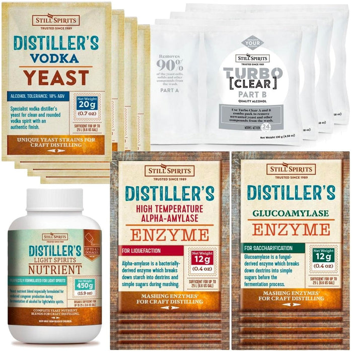 Vodka Distiller's Yeast Pack x4 (shipping late November)