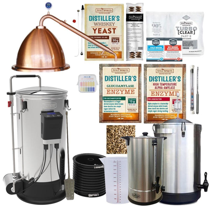 WHISKEY Distillery Kit: Grainfather with Copper Alembic Dome Top and Pot Condenser (shipping early December)