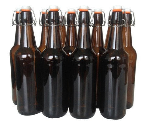 Mangrove Jack's Amber Flip Top Bottles - 12x 750mL