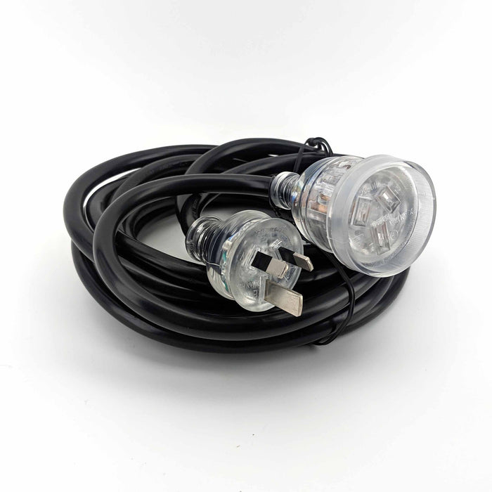15amp (2.0mm) Extension Lead 5m (with LED Light) (Australian Plug)