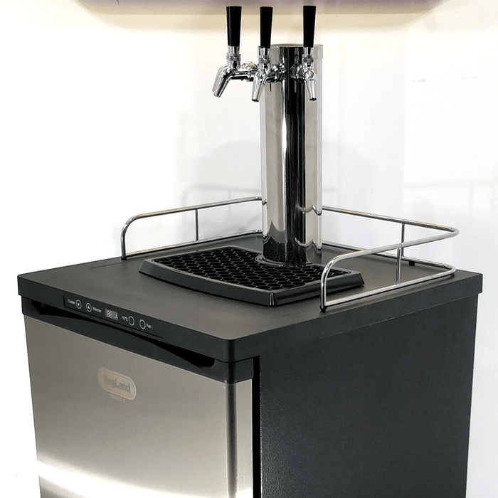 NEW: Kegmaster Series X Kegerator Quadruple Tap PREMIUM BUNDLE 4x Taps with 4 New Kegs, Gas & Disconnects