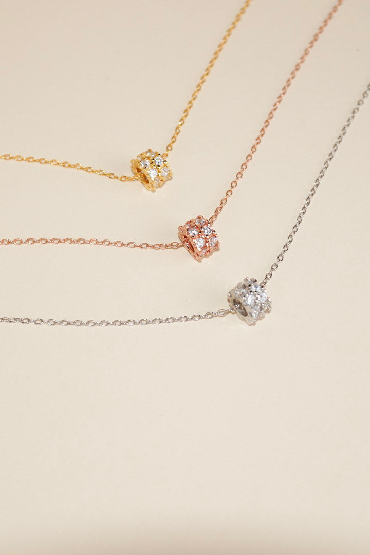 Sparkly Cube Necklace