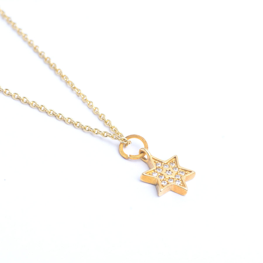 shining star, shield of david, bravery charm, gift for her, jewish star symbol,six-pointed star