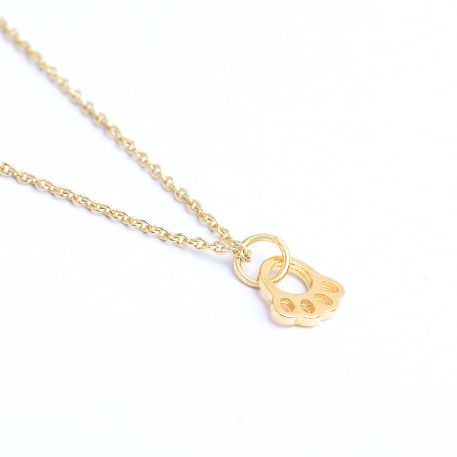 dogs paw print necklace,bestfriends gift,happiness necklace, pet lover,gold paw charm, gold paw necklace,Pet Lover Gift, Paw Print Jewelry,paw print necklace,puppy lover,gift for dog mum