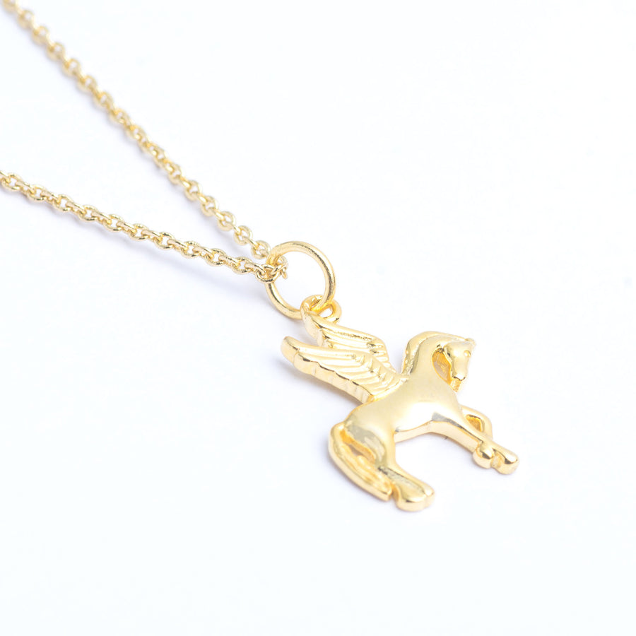 trendy necklaces,gold pegasus necklace, pegasus charm,pegasus necklace,gold pegasus,Gift for Horse Lover,Pegasus Winged Horse Animal Charm,dream,Celestial Jewellery