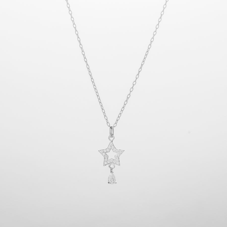 ESTHER Star with Dangling Diamond Necklace/Bracelet