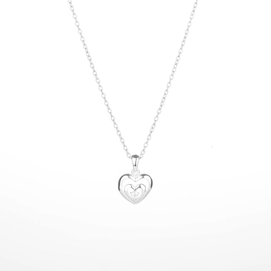 CLEO Heart with Cubic Zirconia Necklace/Bracelet